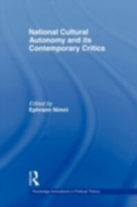 Ebook in inglese National-Cultural Autonomy and its Contemporary Critics