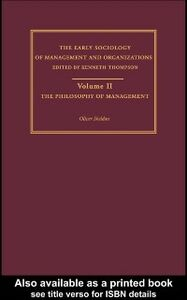 Foto Cover di Philosophy of Management, Ebook inglese di Oliver Sheldon, edito da Taylor and Francis