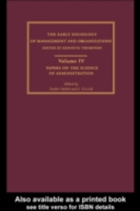 Ebook in inglese Papers on the Science of Administration -, -