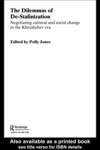 Ebook in inglese Dilemmas of De-Stalinization -, -