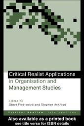 Critical Realist Applic Organ&
