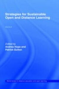 Ebook in inglese Strategies for Sustainable Open and Distance Learning -, -