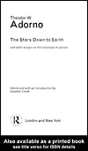 Ebook in inglese The Stars Down to Earth Adorno, Theodor
