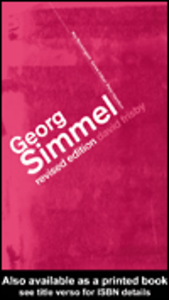 Ebook in inglese Georg Simmel Frisby, David