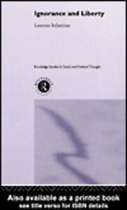 Foto Cover di Ignorance and Liberty, Ebook inglese di Lorenzo Infantino, edito da