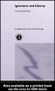 Ebook in inglese Ignorance and Liberty Infantino, Lorenzo