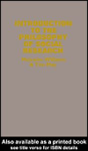 Ebook in inglese An Introduction To The Philosophy Of Social Research May, Tim , Williams, Malcolm