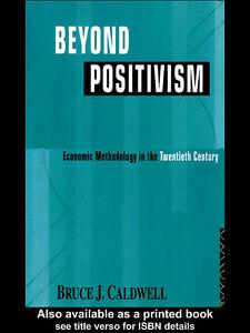Foto Cover di Beyond Positivism, Ebook inglese di B Caldwell, edito da