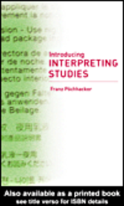 Ebook in inglese Introducing Interpreting Studies Pöchhacker, Franz