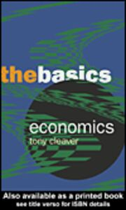 Ebook in inglese Economics Cleaver, Tony