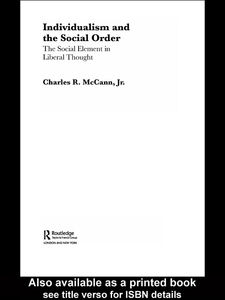 Ebook in inglese Individualism and the Social Order McCann Jr, Charles R.