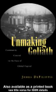 Ebook in inglese Unmaking Goliath DeFilippis, James