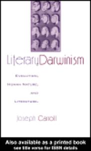 Ebook in inglese Literary Darwinism Carroll, Joseph
