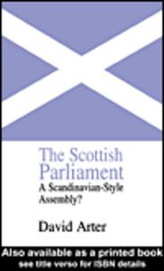 Ebook in inglese The Scottish Parliament Arter, David