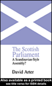 Ebook in inglese The Scottish Parliament Arter, David