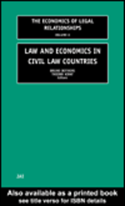 Ebook in inglese Law and Economics in Civil Law Countries
