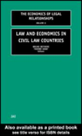 Law and Economics in Civil Law Countries