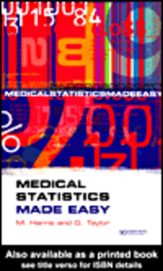 Ebook in inglese Medical Statistics Made Easy Harris, M , Taylor, G