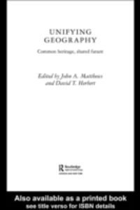 Ebook in inglese Unifying Geography -, -