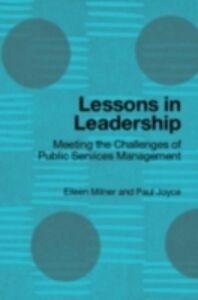 Foto Cover di Lessons in Leadership, Ebook inglese di Paul Joyce,Eileen Milner, edito da Taylor and Francis