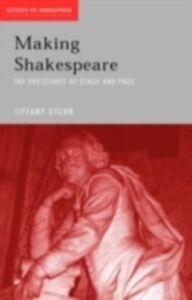 Foto Cover di Making Shakespeare, Ebook inglese di Tiffany Stern, edito da Taylor and Francis