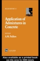 Application of Admixtures in Concrete