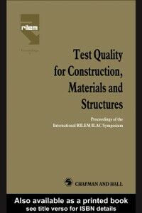 Ebook in inglese Test Quality for Construction, Materials and Structures