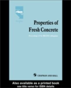 Foto Cover di Properties of Fresh Concrete, Ebook inglese di  edito da Taylor and Francis