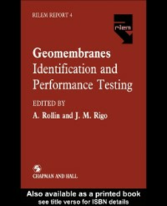 Ebook in inglese Geomembranes - Identification and Performance Testing -, -