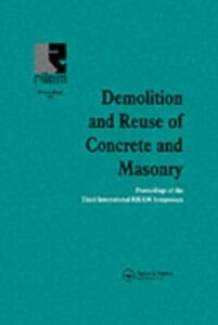 Foto Cover di Demolition and Reuse of Concrete and Masonry, Ebook inglese di  edito da Taylor and Francis