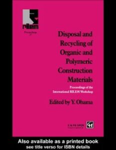 Ebook in inglese Disposal and Recycling of Organic and Polymeric Construction Materials -, -