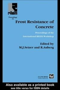 Ebook in inglese Frost Resistance of Concrete Auberg, R , Setzer, M.J.