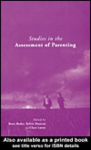 Foto Cover di Studies in the Assessment of Parenting, Ebook inglese di AA.VV edito da