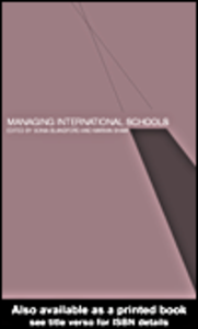Ebook in inglese Managing International Schools