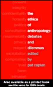 Ebook in inglese The Ethics of Anthropology