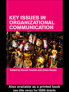 Ebook in inglese Key Issues in Organizational Communication