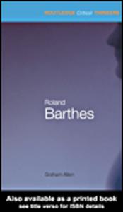 Ebook in inglese Roland Barthes Allen, Graham