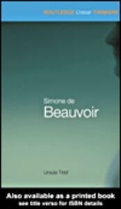 Foto Cover di Simone de Beauvoir, Ebook inglese di Ursula Tidd, edito da