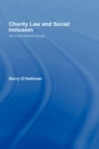 Foto Cover di Charity Law and Social Inclusion, Ebook inglese di Kerry O'Halloran, edito da Taylor and Francis