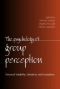Ebook in inglese Psychology of Group Perception