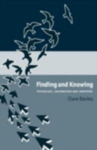Foto Cover di Finding and Knowing, Ebook inglese di Clare Davies, edito da Taylor and Francis