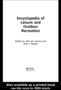 Ebook in inglese Encyclopedia of Leisure and Outdoor Recreation -, -