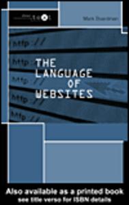 Ebook in inglese The Language of Websites Boardman, Mark