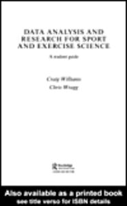 Ebook in inglese Data Analysis and Research for Sport and Exercise Science Williams, Craig , Wragg, Chris