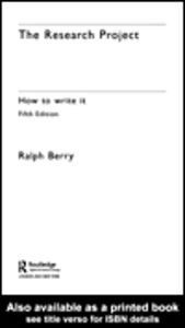 Foto Cover di The Research Project, Ebook inglese di Ralph Berry, edito da