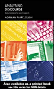 Ebook in inglese Analysing Discourse Fairclough, Norman