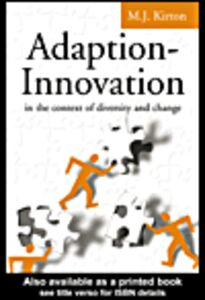 Ebook in inglese Adaption-Innovation Kirton, M.J.