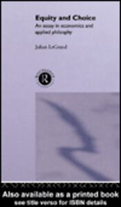 Ebook in inglese Equity and Choice Le Grand, Julian