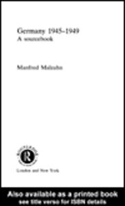 Ebook in inglese Germany 1945-1949 Malzahn, Manfred