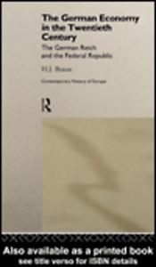 Ebook in inglese The German Economy in the Twentieth Century Braun, H. J.